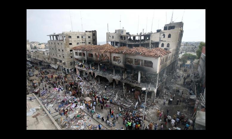 Commercieel centrum, Rafah, 24 augustus 2014 © REUTERS/Ibraheem Abu Mustafa