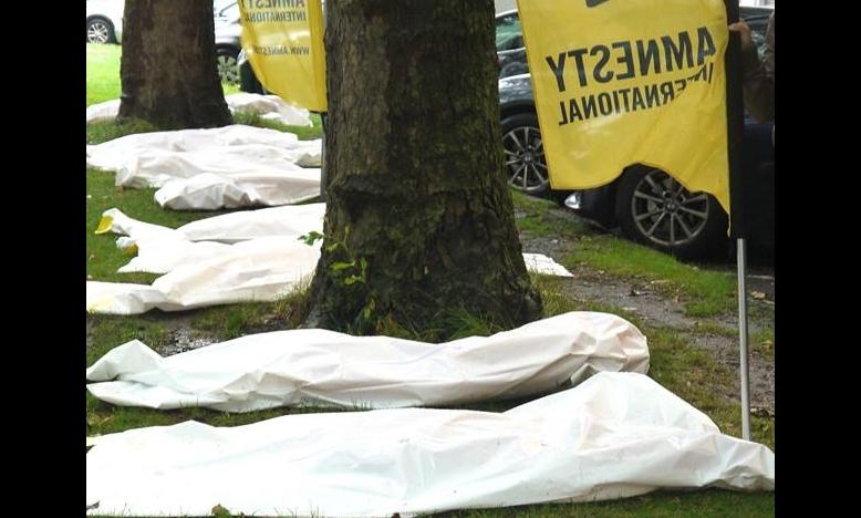 actie aan de Braziliaanse ambassade in Brussel