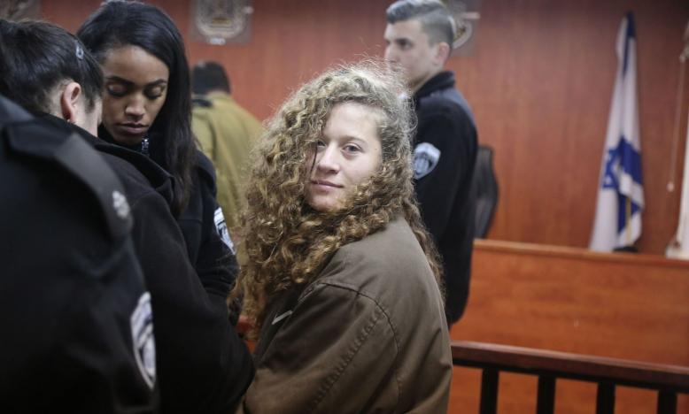 Israël moet jonge Palestijnse activiste Ahed Tamimi vrijlaten - Getty images