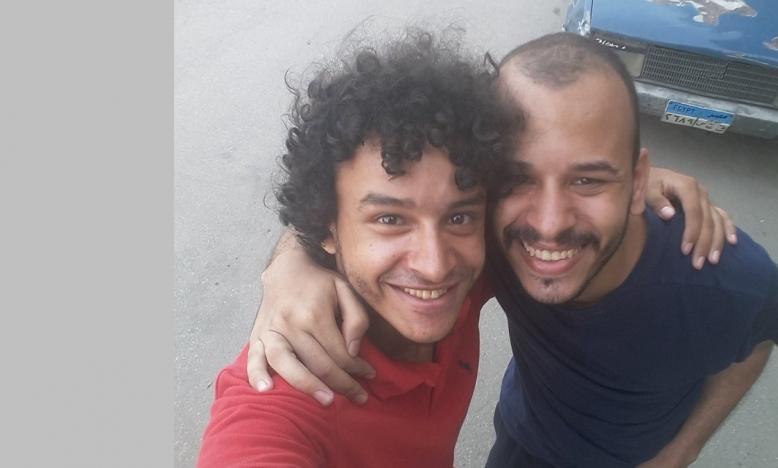 Tarek Hussein (r)  met zijn broer Mahmoud © Twiiter @HMahmoudmohmed