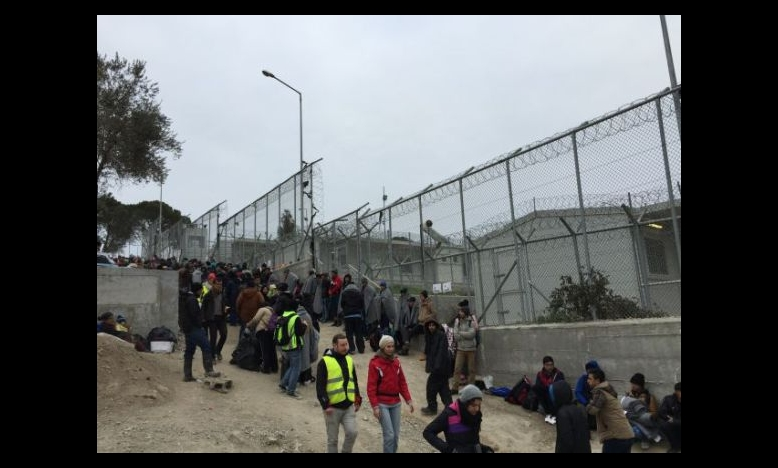 Moria vluchtelingenkamp, 31 januari 2016 © Amnesty International
