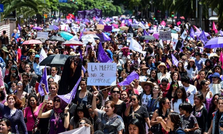 Mexico - protest tegen geweld op vrouwen