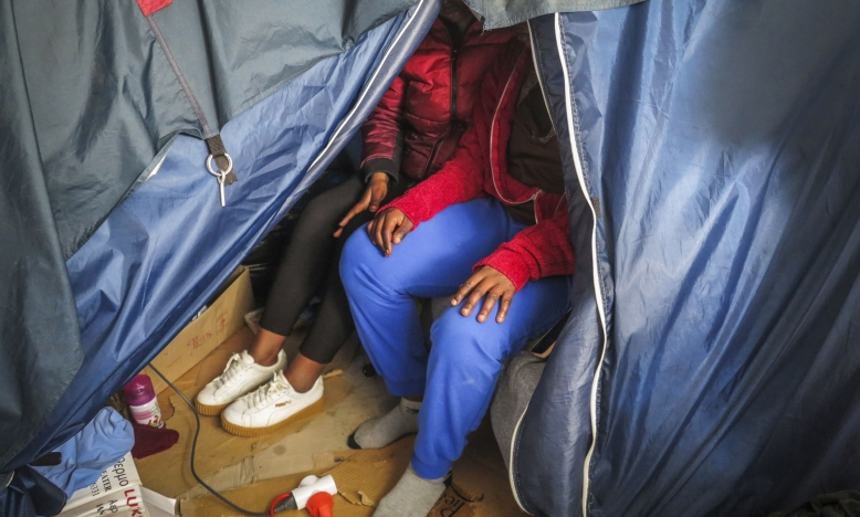 Vluchtelingenvrouwen in kamp Vathi (Samos) © Amnesty International