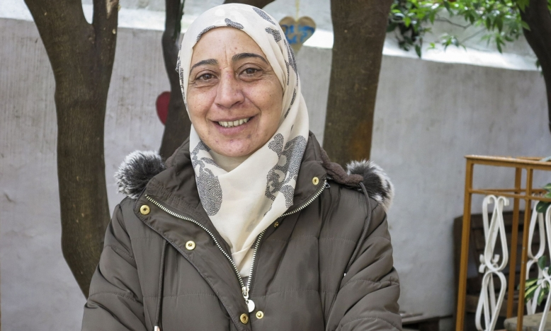 Syrisch-Palestijnse vluchteling Amal op Lesbos