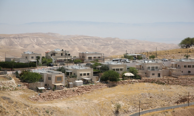 The Israeli settlement of Kfar Adumim, overlooking the Palestinian village of Khan al-Ahmar, is a popular tourist destination. © Amnesty International