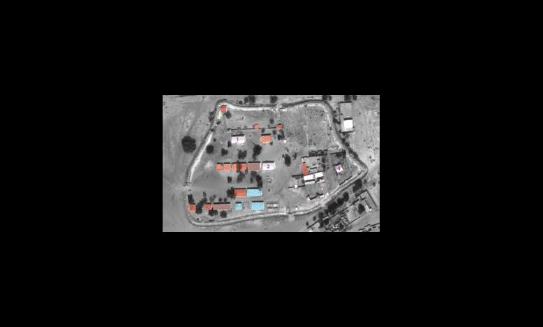 satellietbeeld van de school in Fotokol