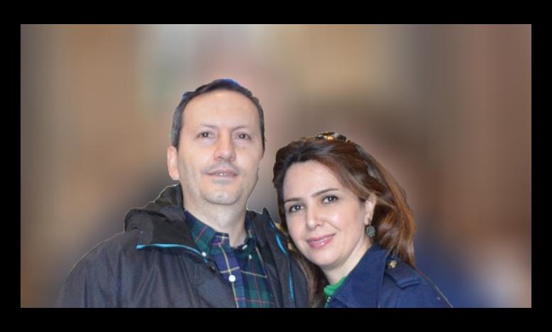 Dr. Djalali en zijn echtgenote Vida