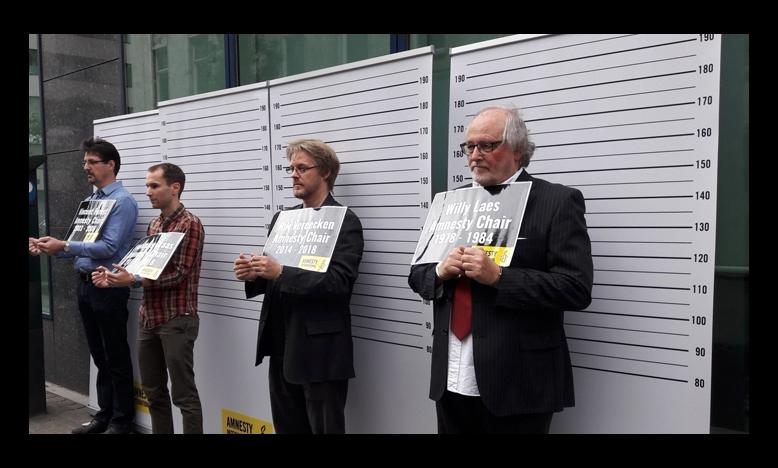 actie tegen arrestatie Taner Kilic, Brussel
