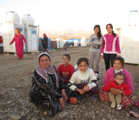 Syrische vluchtelingen in Irak, november 2013