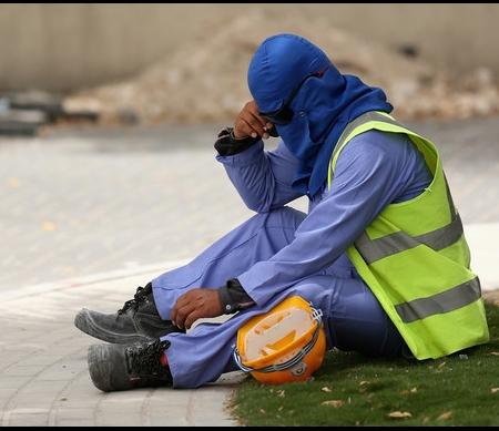Arbeidsmigrant in Qatar © Warren Little/Getty Images