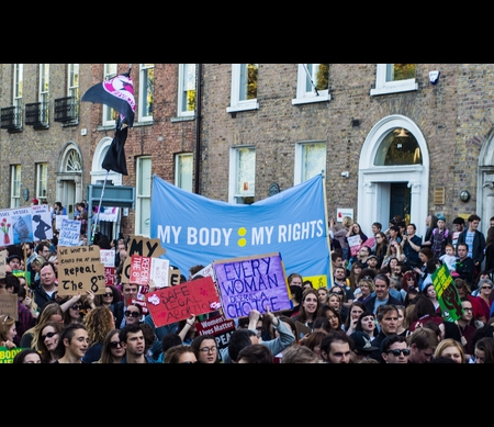 March for choice in Dublin, 2015