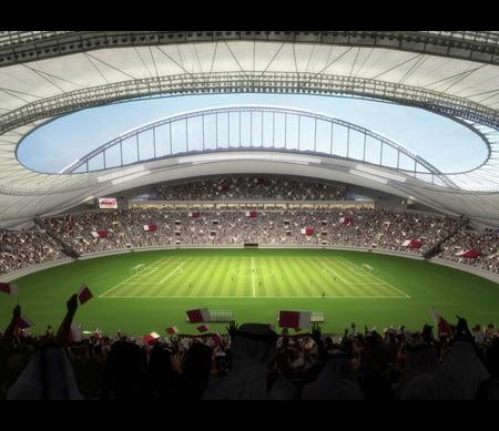 Voetbalstadion FIFA WK Voetbal Qatar