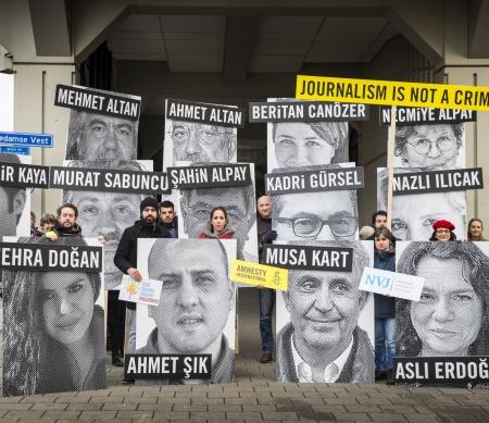 Actie voor het Turks consulaat in Nederland