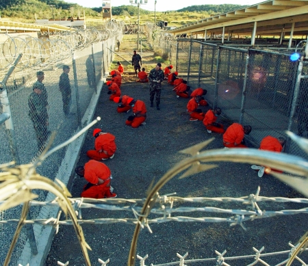 Camp X-Ray op Guantanamo Bay, Cuba - Foto US DoD