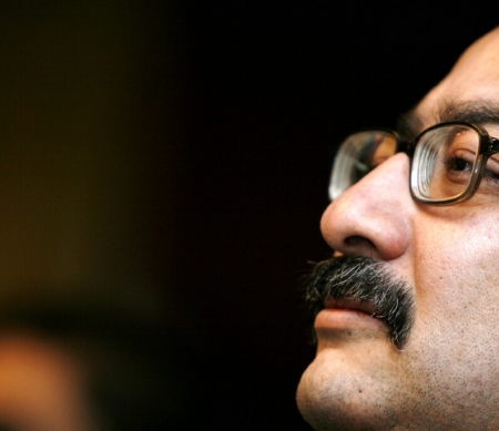Ibrahim Eissa, hoofdredacteur van de onafhankelijke krant Al-Dustour © AP/PA Photo/Amr Nabil