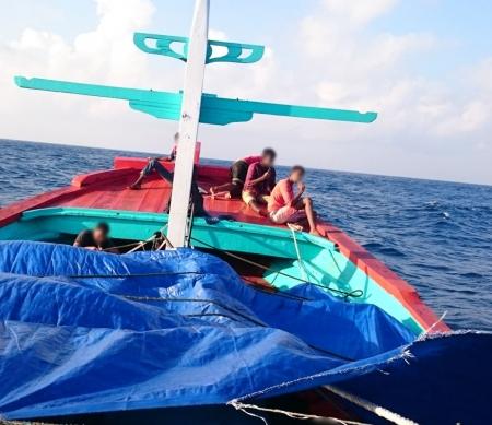 Boot met asielzoekers, mei 2015