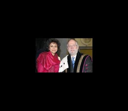 Irene Khan en Prof. dr. Paul Van Cauwenberge, rector UGent