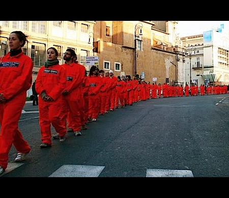 Guantanamo Bay: protestactie in Rome