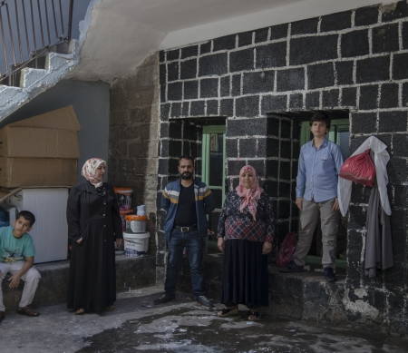 Koerdse familie in Sur