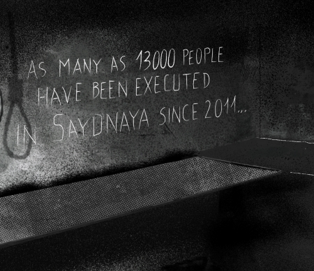Ophangingen en uitroeiing in Syrische gevangenis