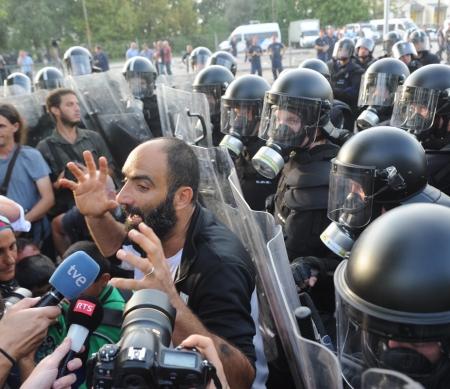Ahmed H tijdens de schermutselingen © Alamy/REUTERS/Karnok Csaba