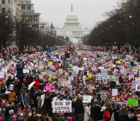 'Women's March' in januari, Washington © 2017 Getty Images