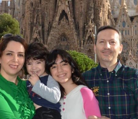 Ahmadreza Djalali en zijn gezin