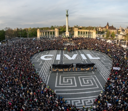 Hungary protests against intimidation of civil society