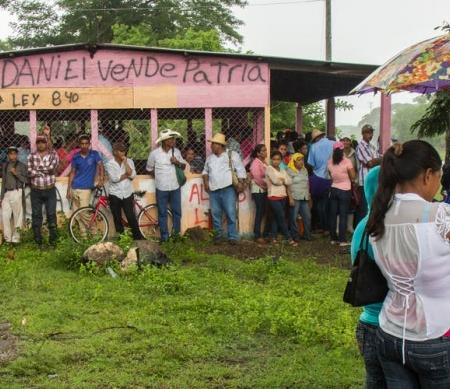 Protest tegen de bouw van Nicaragua-kanaal