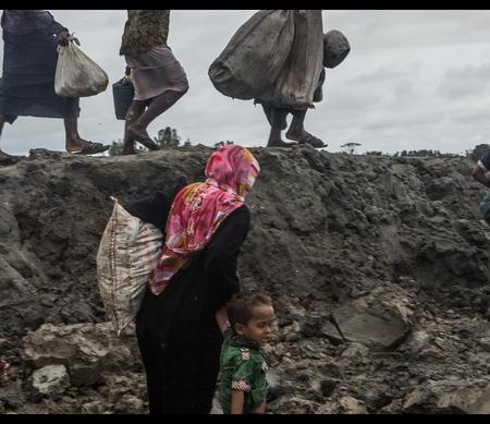Rohingya-vluchtelingen komen aan in Bangladesh.Copyright Andrew Stanbridge / Amnesty International
