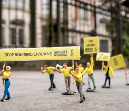 7 jaar oorlog in Syrië: klein protest tegen groot onrecht © Wouter Missiaen