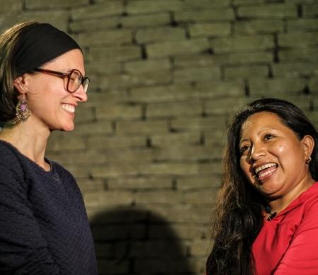 Eva De Roovere en Teodora Vasquez