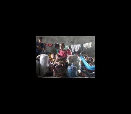 Overbevolkt kamp voor ontheemden