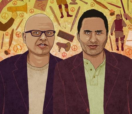 Issa Amro en Farid al-Atrash uit Israël