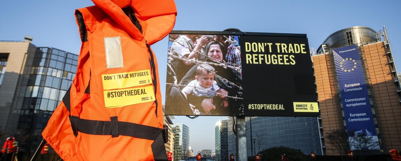 Stopthedeal: Amnesty voert actie aan de Europese instellingen, tegen de immorele en illegale EU-Turkijedeal