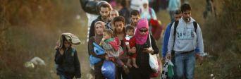 Vluchtelingen op weg naar Hongarije, Subotica (Servië), 9 september 2015 © Christopher Furlong/Getty Images
