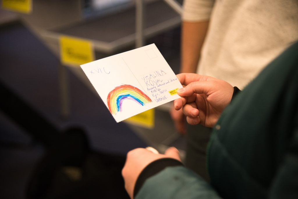 Kaartje voor LGBTI-activiste Vitalina Koval (2018) (c) Frederik Sadones