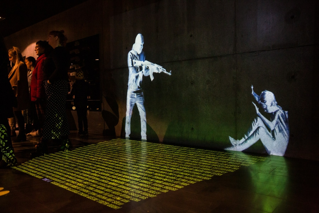 Een interactieve lichtinstallatie gemaakt door Amnesty IJsland, in samenwerking met Gagarin, een technologiebedrijf, en het reclamebureau Kontor. (c) Amnesty International Iceland