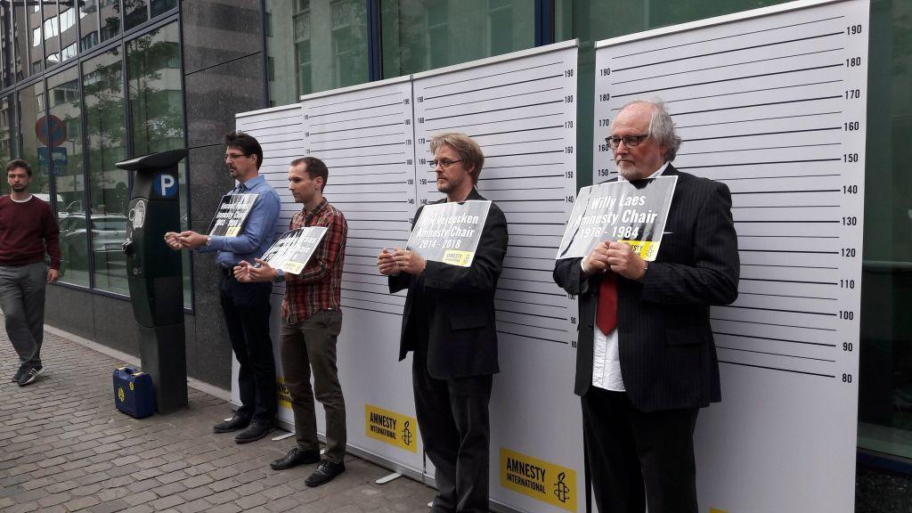 Actie voor de vrijlating van Taner Kiliç, voorzitter van Amnesty Turkije, 15 juni 2017