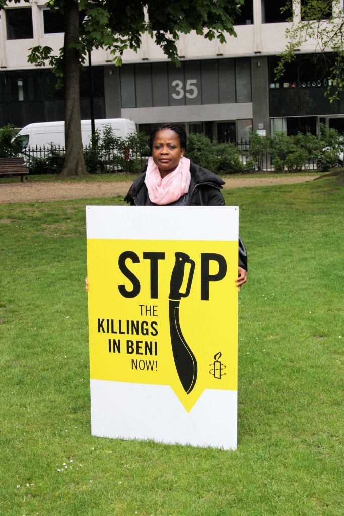 Rouwstoet voor gerechtigheid in Beni, DRC - 7 mei