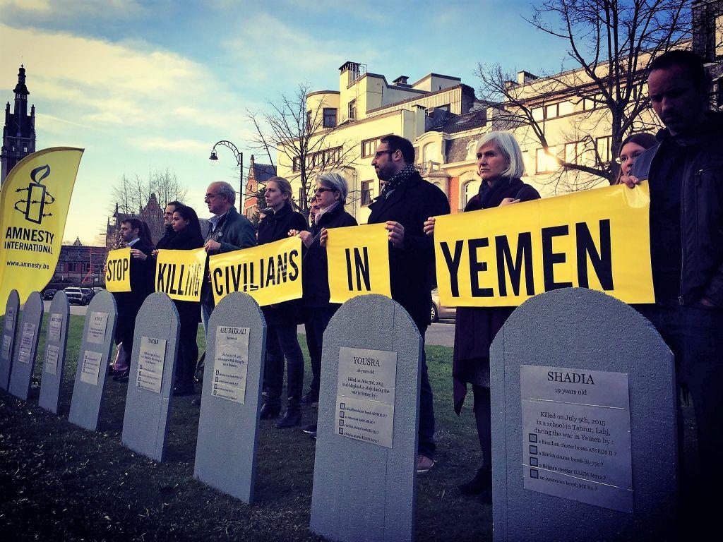 Protest tegen burgerslachtoffers in Jemen - 24 maart