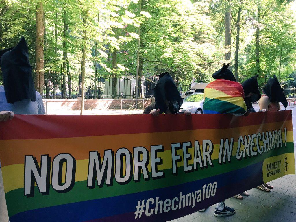 Actie tegen vervolging van holebi's in Tsjetsjenië, 2 juni