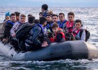 Vluchtelingen komen aan op Lesbos © Michael S Honegger